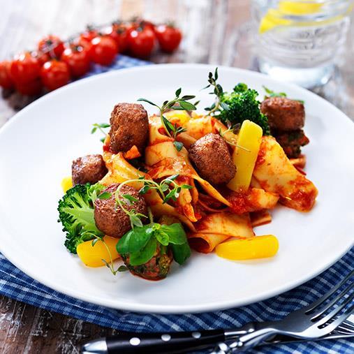 Veggie boulette med tomatsås provencale