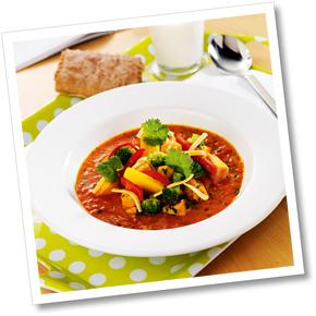 Kyckling- och pastasoppa