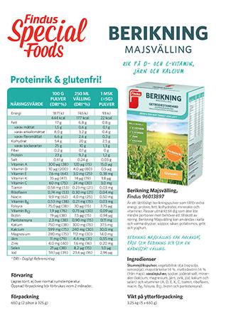 Faktablad om berikning majsvälling