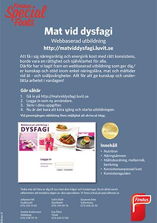 Infoblad webbbaserad utbildning mat vid dysfagi