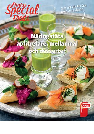 Näringstäta mellanmål och desserter inspirationsblad framsida