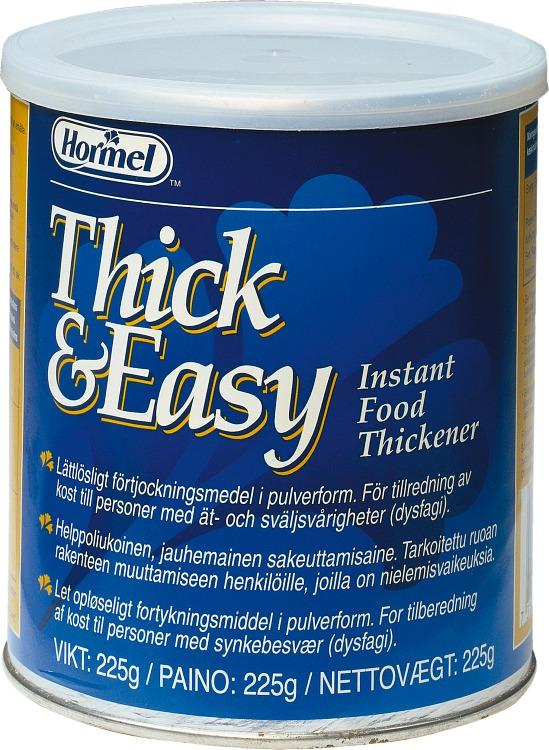 Thick & Easy förpackning förtjockningsmedel