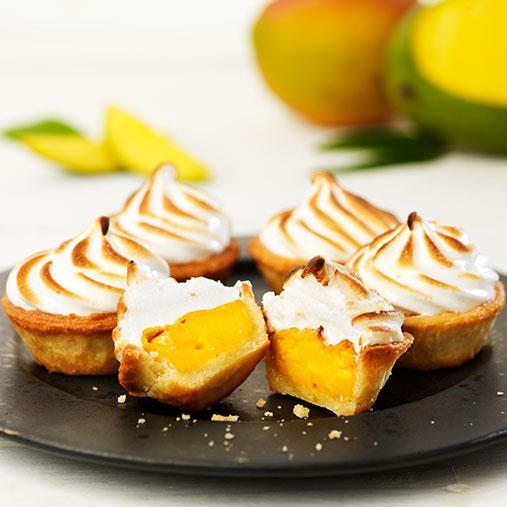Mango- och marängpaj