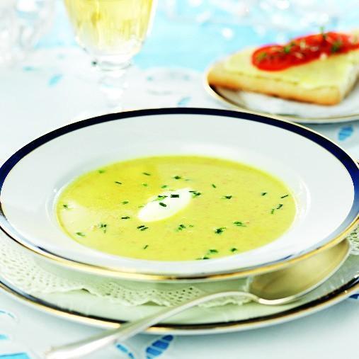 Ost- och grönsakssoppa