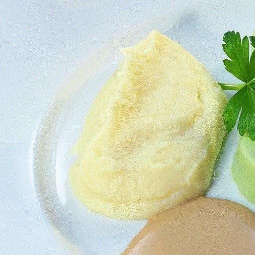 Potatismos med sopp- och såsbas, berikad