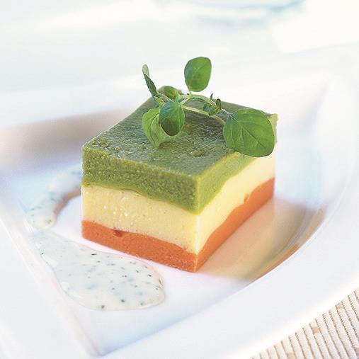 Tricolore grönsakstimbal